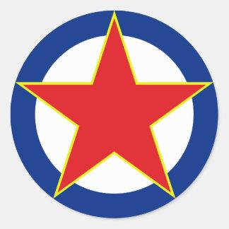 SFRJ RV i PVO Classic Round Sticker
