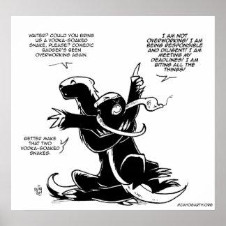 SFWA Honey Badgers: Overworking Poster