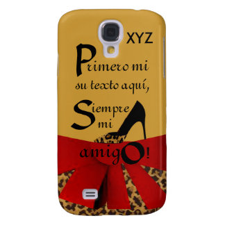 sG4Case Tread -Customize w/Initials & Relationship Samsung S4 Case