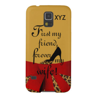 SG5 First&Forever -Customize it w/initials-Wife Galaxy S5 Cover