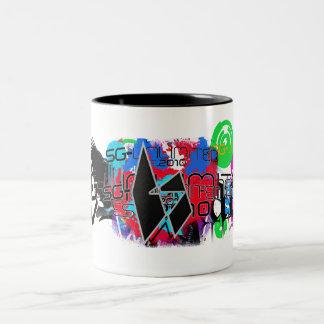 SG Design Collage gug Two-Tone Coffee Mug