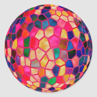SG Light Red Glowing Crystal Ball Stickers