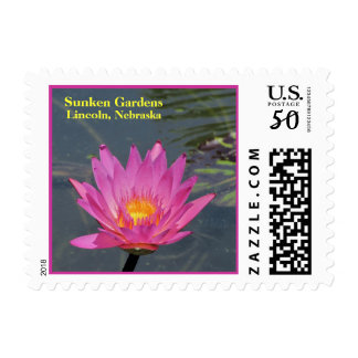 SG purple Water Lily postage stamp #101  00101101