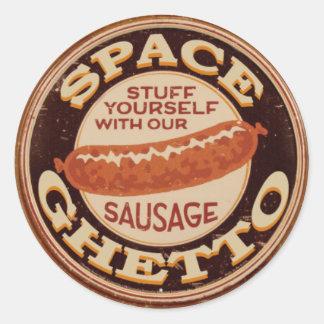 SG_Sausage Classic Round Sticker