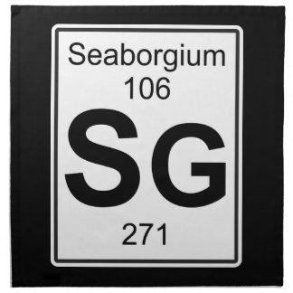 Sg - Seaborgium Napkin
