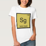 Sg - Solid Gold Chemistry Element Symbol T-Shirt