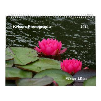 SG Water lilies 2015 #12 Wall Calendar