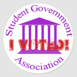SGA, I Voted! Classic Round Sticker