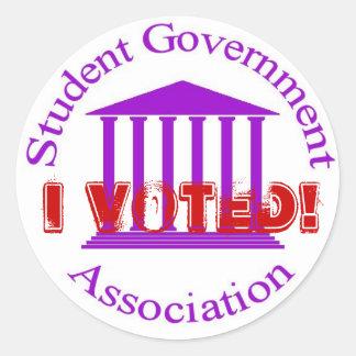 ¡SGA, voté! Pegatina Redonda