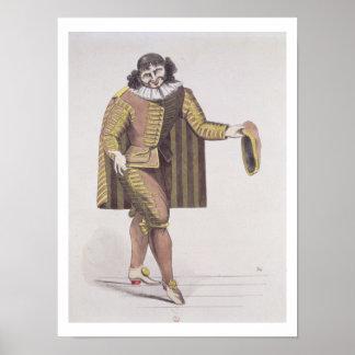 """Sganarelle en """"DES Maris de L'Ecole"""" por Moliere,  Poster"""
