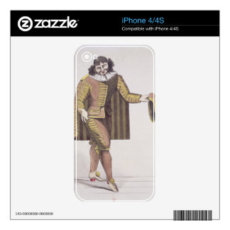Sganarelle in 'L'Ecole des Maris' by Moliere, prem Decals For iPhone 4S