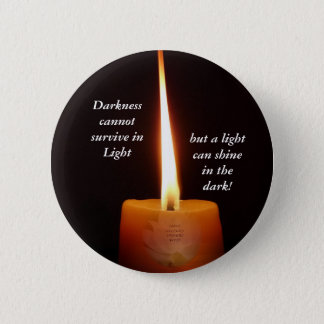 SGI Buddhist Button with Lotus Candle and NMRK