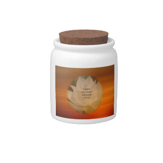 SGI Buddhist Candy Jar with Lotus Flower and NMRK