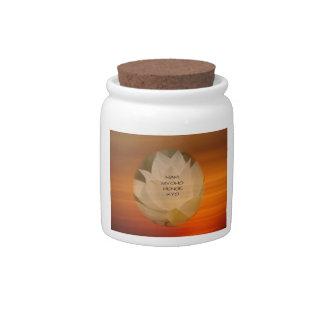 SGI Buddhist Candy Jar with Lotus Flower and NMRK