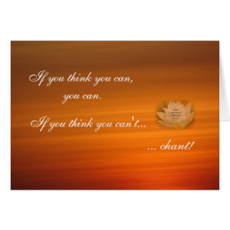 SGI Buddhist Chanting Reminder Card