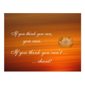 SGI Buddhist Chanting Reminder Postcard