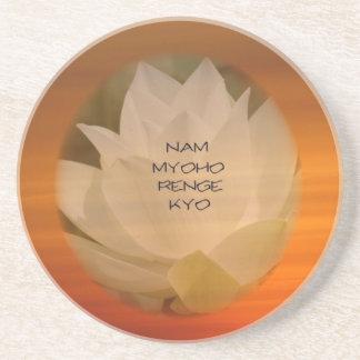 SGI Buddhist Coasters with Lotus Flower and NMRK