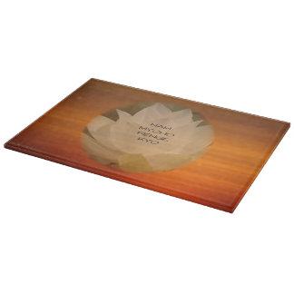 SGI Buddhist Cutting Board - Lotus Flower and NMRK