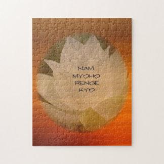 SGI Buddhist Jigsaw Puzzle - Lotus Flower and NMRK