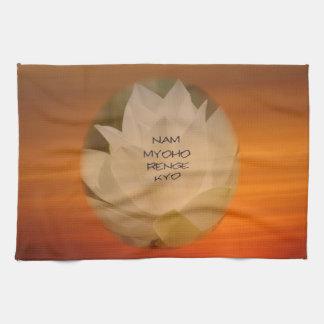 SGI Buddhist Kitchen Towel - Lotus Flower and NMR