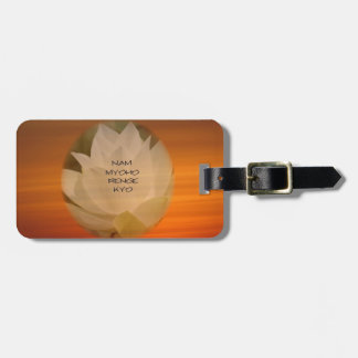 SGI Buddhist Luggage Tags - Lotus Flower and NMRK