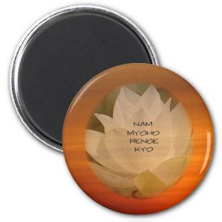 SGI Buddhist Magnet - Round