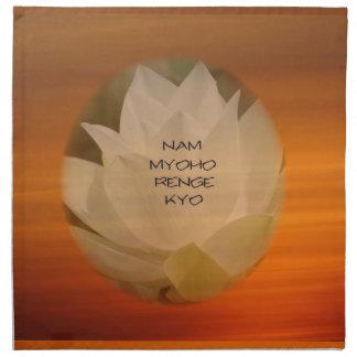 SGI Buddhist Napkins with Lotus Flower and NMRK