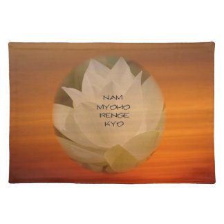 SGI Buddhist Place Mats with Lotus Flower and NMRK