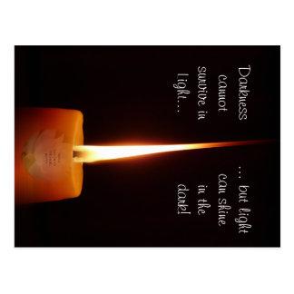 SGI Buddhist Postcard with Lotus Candle and NMRK