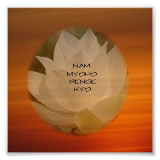 "SGI Buddhist Poster - Lotus ""Nam Myoho Renge Kyo"""