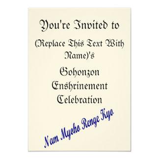 SGI Gohonzon Enshrinement Celebration Invitation