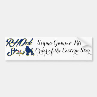 SGRho/OES Poodle Bumper Sticker