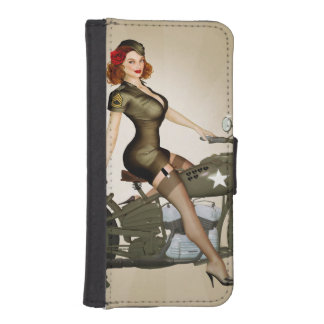 Sgt. Davidson Army Motorcycle iPhone Wallet Case Phone Wallet