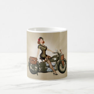 Sgt. Davidson Army Motorcycle Pinup Coffee Mug