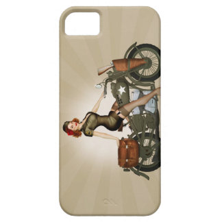 Sgt. Davidson Army Motorcycle Pinup iPhone 5 Case