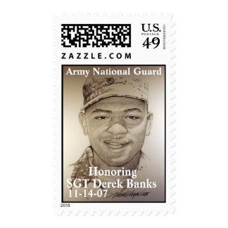 SGT Derek Banks Postage Stamps