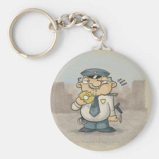 Sgt Donut Basic Round Button Keychain