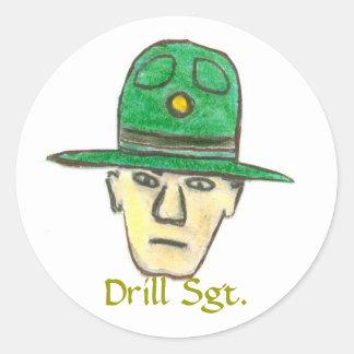 sgt, Drill Sgt. Classic Round Sticker