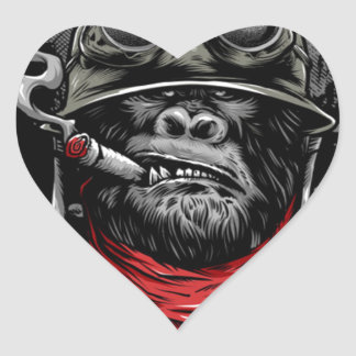 Sgt. Gorrilla Heart Sticker