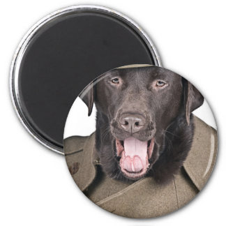 Sgt Labrador 2 Inch Round Magnet