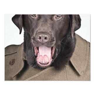 Sgt Labrador 4.25x5.5 Paper Invitation Card