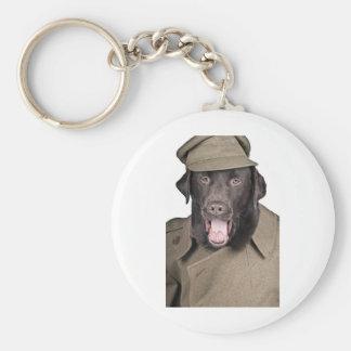 Sgt Labrador Basic Round Button Keychain