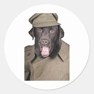 Sgt Labrador Classic Round Sticker