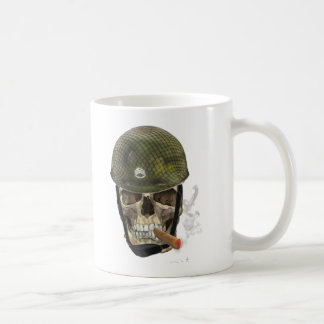 sgt skull classic white coffee mug