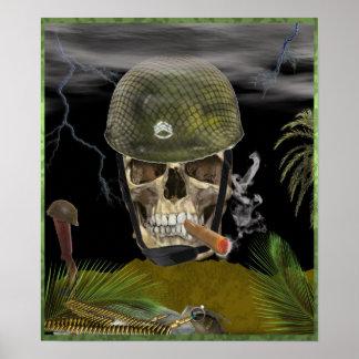 sgt skull poster