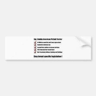 Sgt. Stubby -1 Bumper Sticker