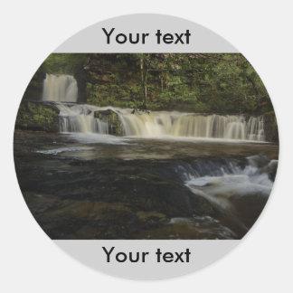 Sgwd Ddwli Waterfall Classic Round Sticker