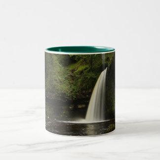 Sgwd Gwladys Waterfall 1 Two-Tone Coffee Mug