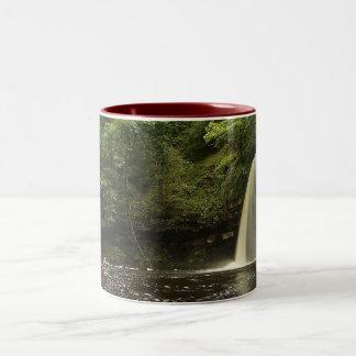 Sgwd Gwladys Waterfall 2 Two-Tone Coffee Mug