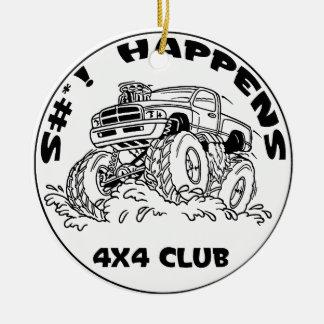 SH_black_Dodge Christmas Tree Ornament